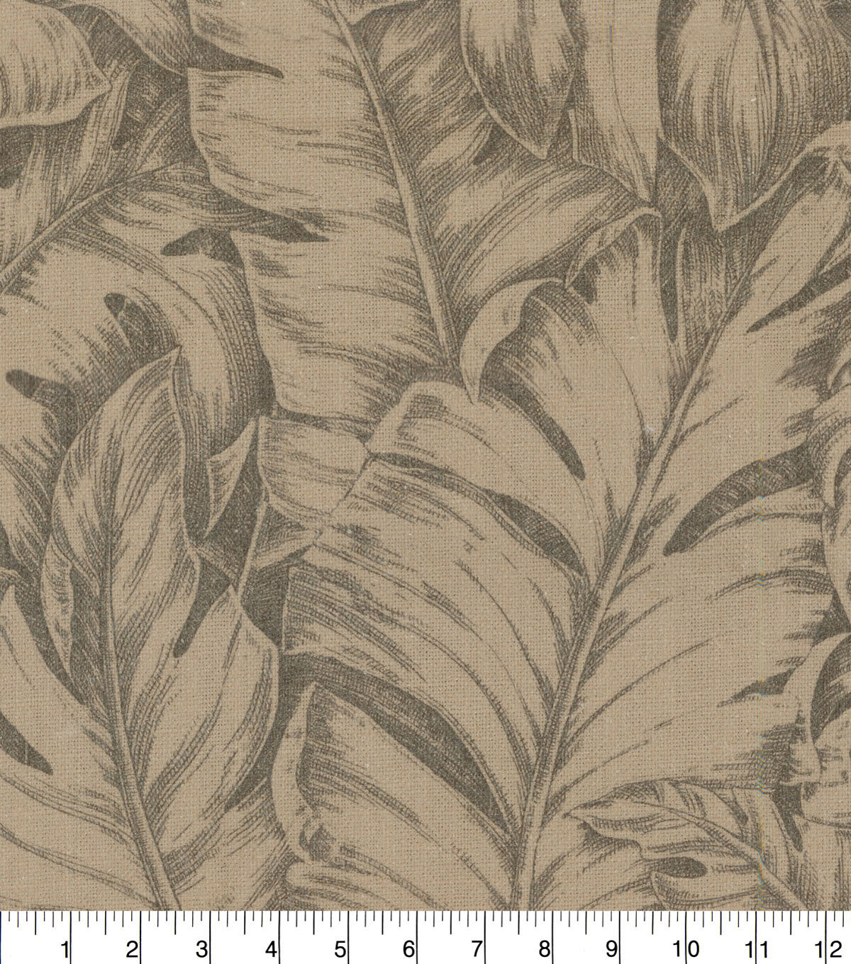 Tommy Bahama Upholstery Fabric 13x13\u0022 Swatch-Jungle Love Flaxen Coffee Bean
