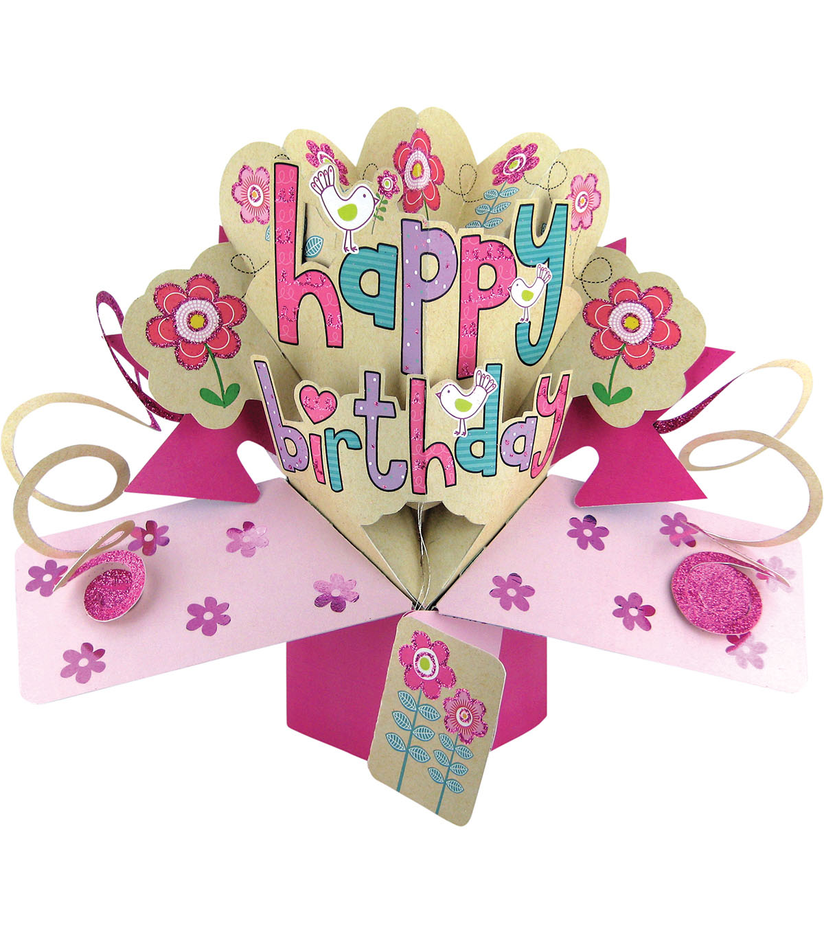 Second Nature Pop-Up 3D Greeting Card-Happy Birthday