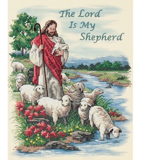 Dimensions The Lord Is My Shepherd Stmpd X-Stitch Kit