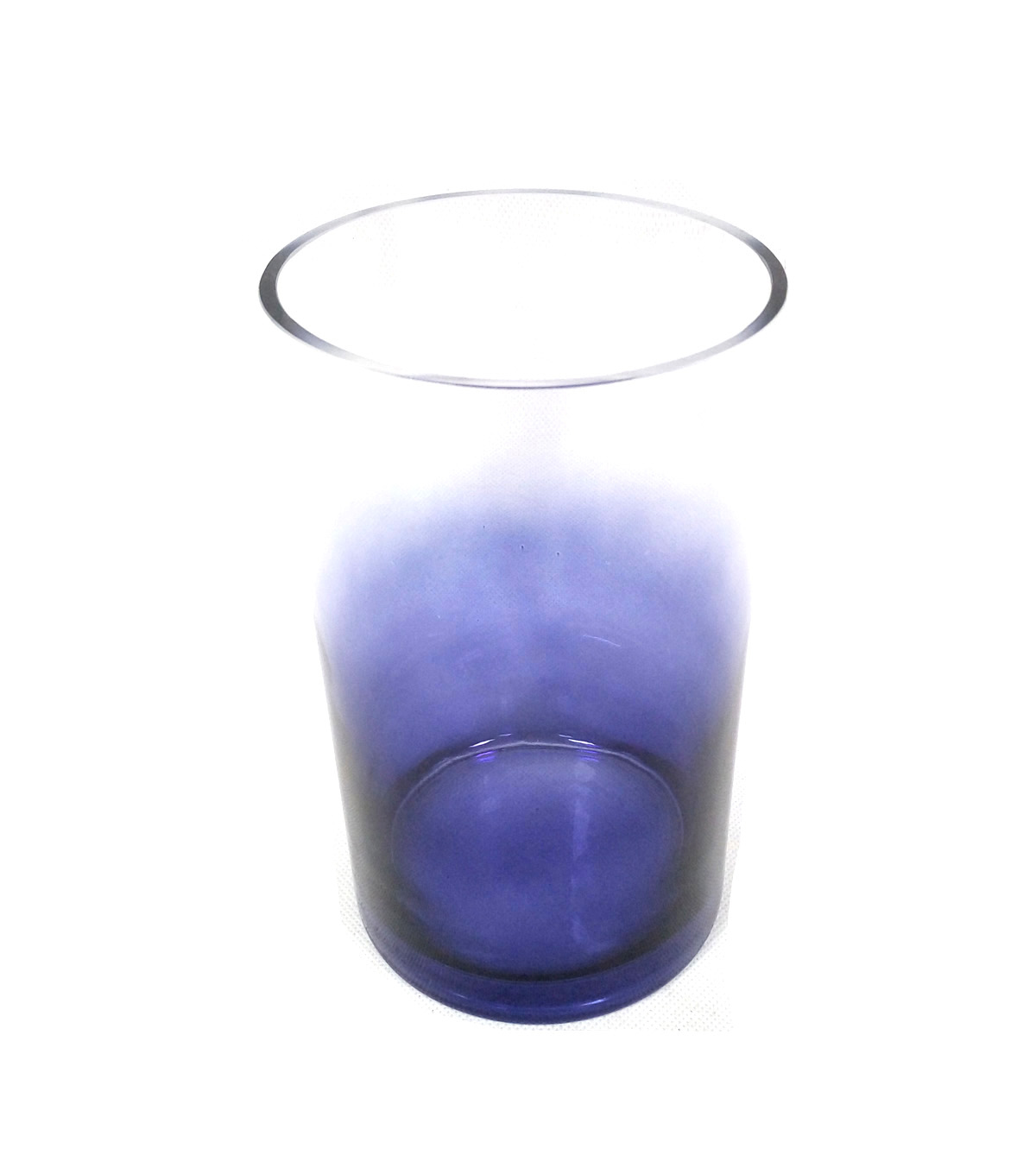 Indigo Mist Large Glass Container-Ombre