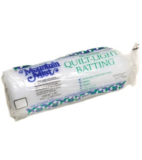 Mountain Mist Quilt-Light Polyester Batting-Full Size 81\u0022X96\u0022