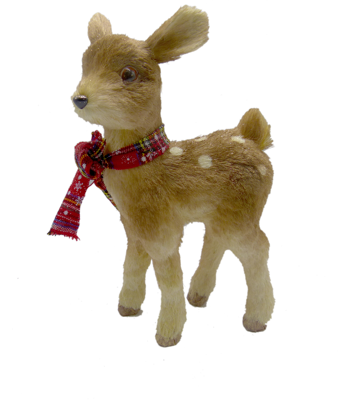 Handmade Holiday Christmas Sisal Standing Deer