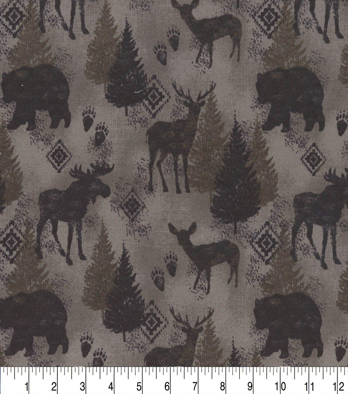 Snuggle Flannel Fabric -Distressed Wilderness Brown