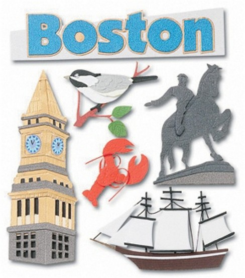 Jolee\u0027s Boutique Dimensional Stickers-Boston