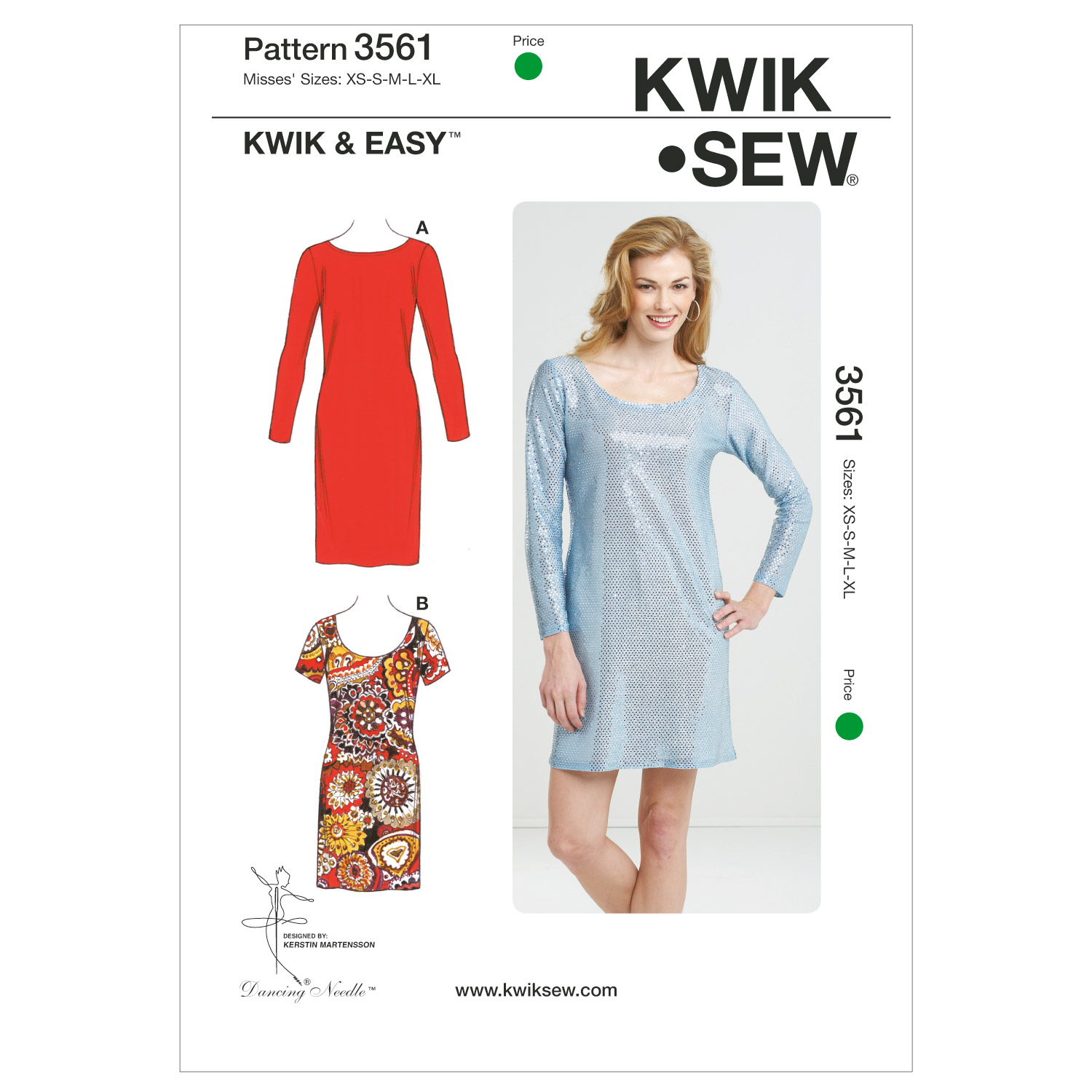 Kwik Sew Misses Dress-K3561