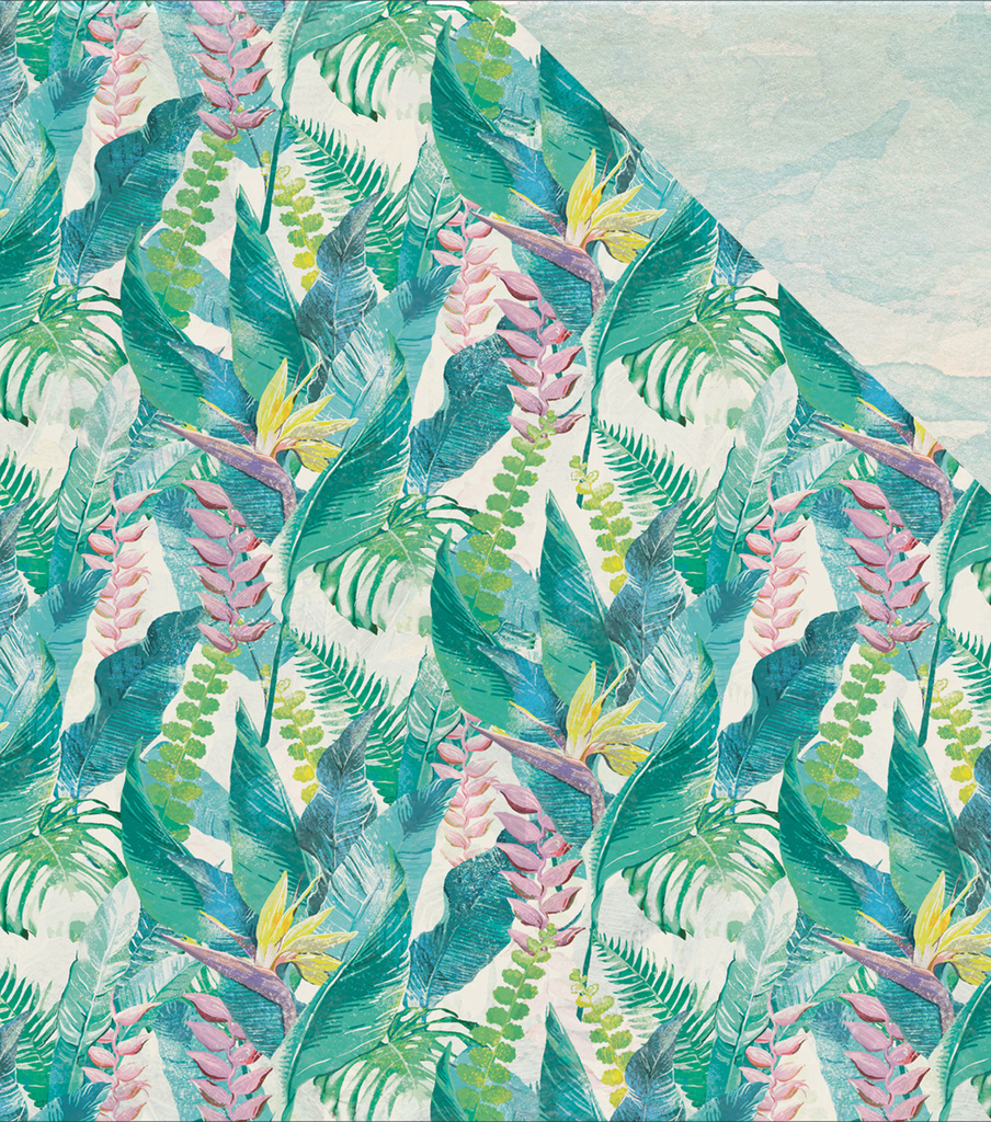Island Escape Double-Sided Cardstock 12\u0022X12\u0022-Bird Of Paradise