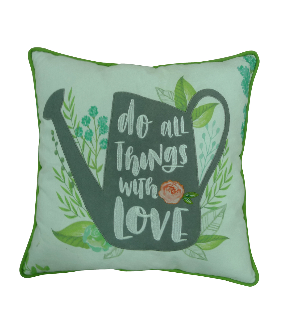 Hello Spring 18\u0027\u0027x18\u0027\u0027 Pillow-Watering Can & Do All Things with Love