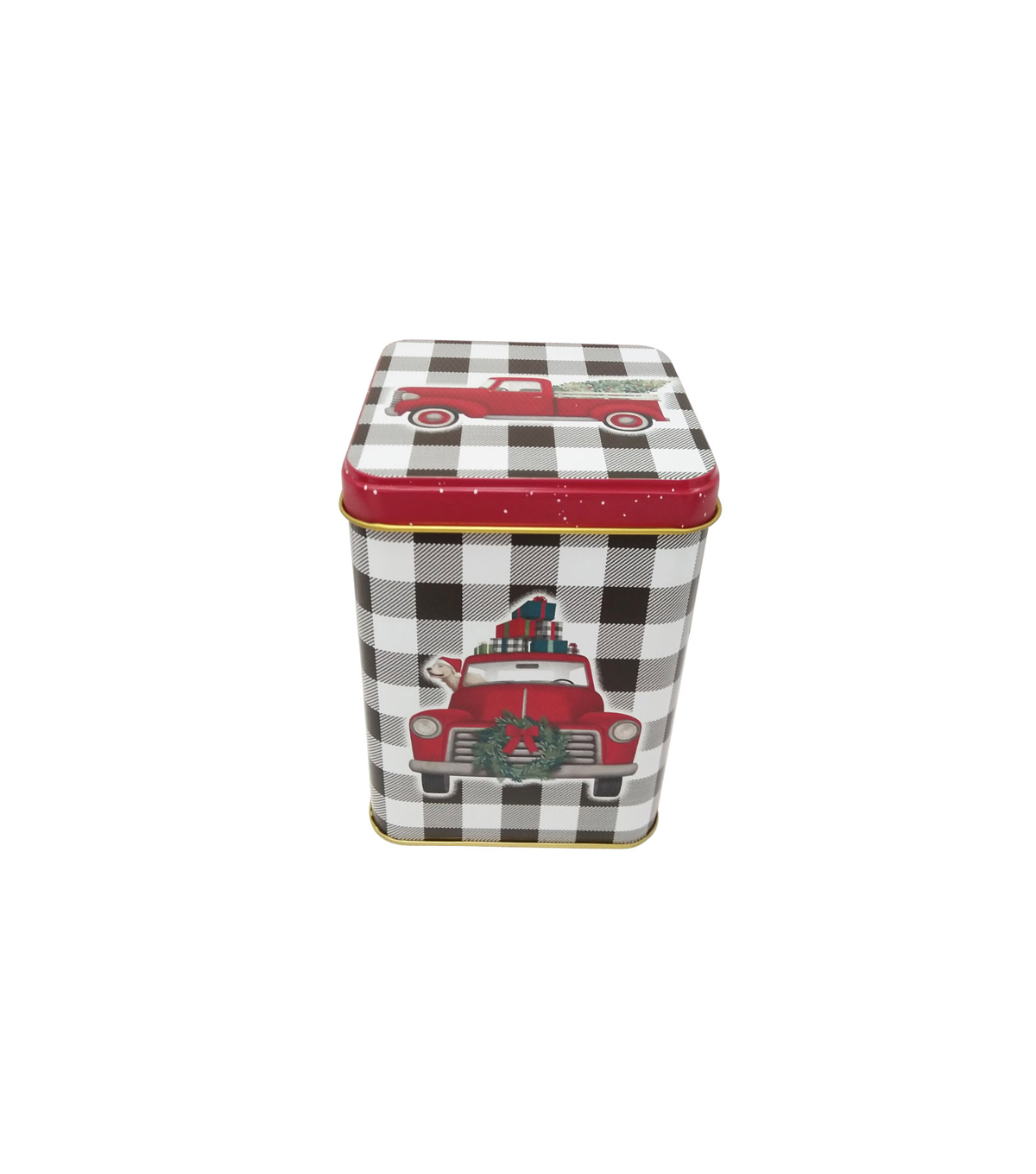 Maker\u0027s Holiday Christmas Medium Square Canister-Truck