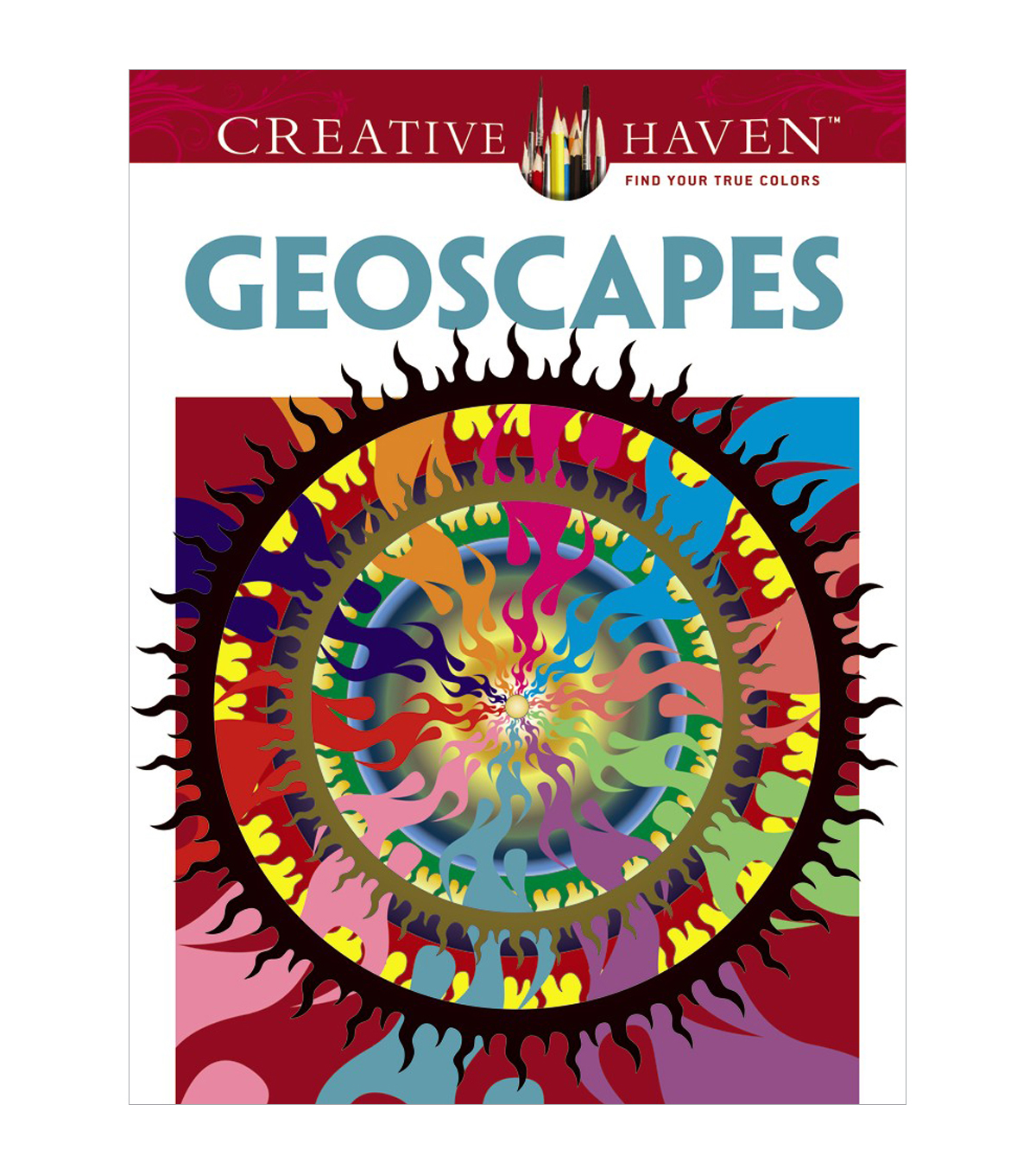 Dover Creative Haven Geoscapes Coloring Book