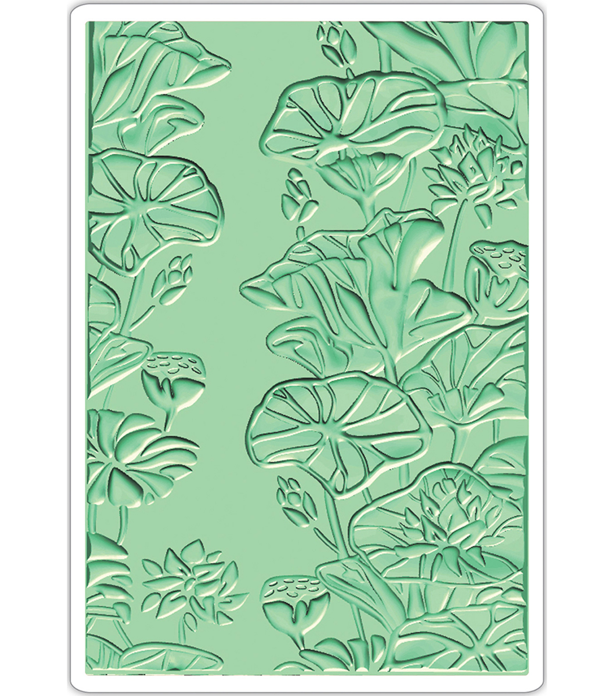 Sizzix 3-D Textured Impressions Embossing Folder-Lily Pond