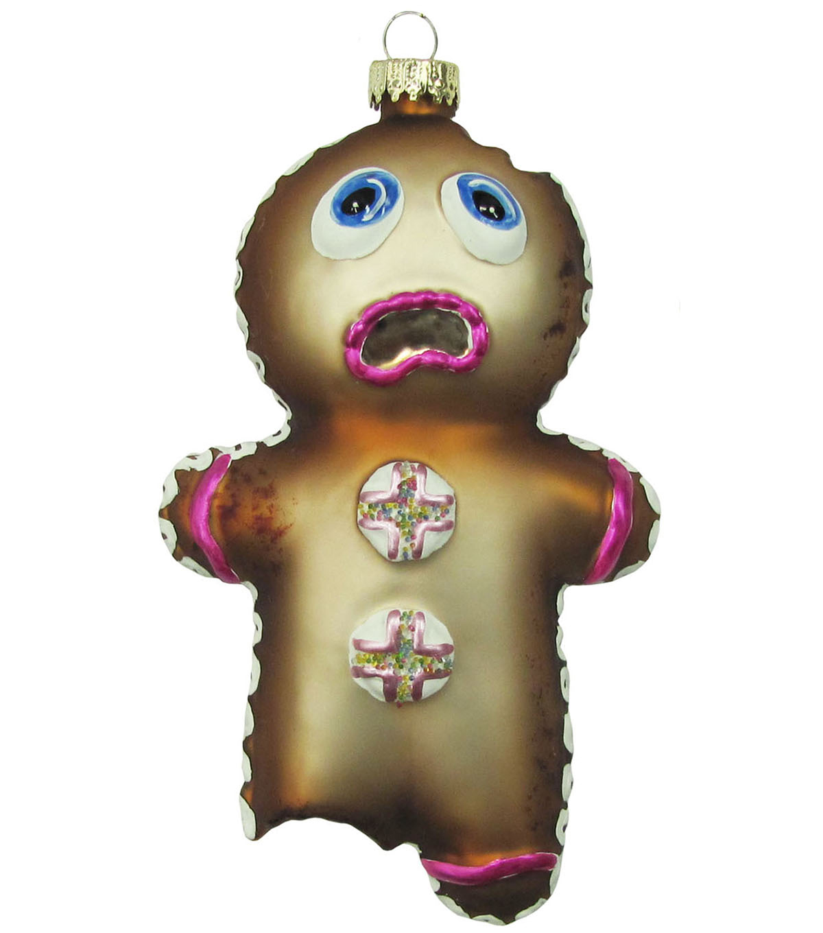 Maker\u0027s Holiday Ornament-Glass Gingerbread Man