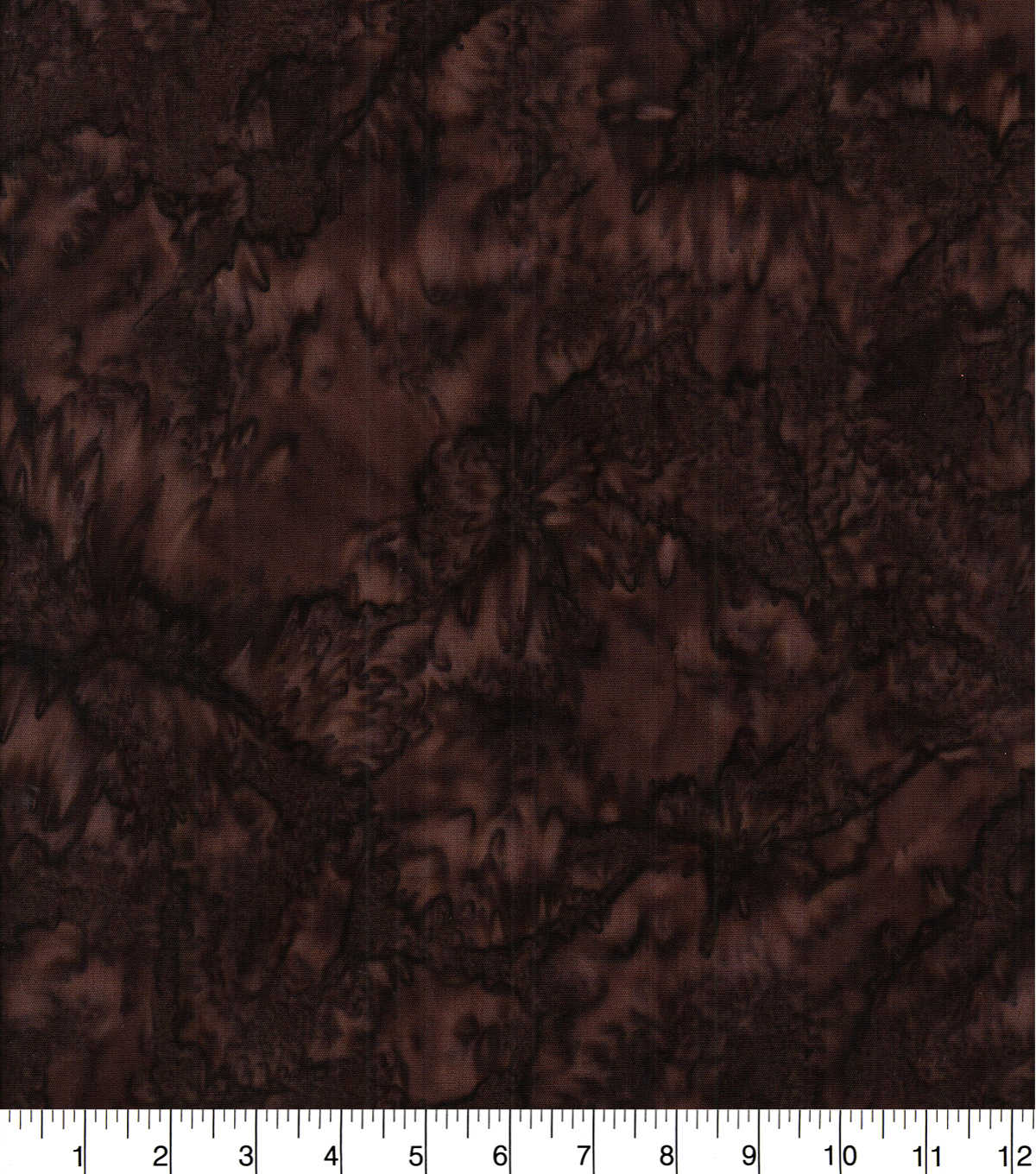 Cotton Fabric -Dark Brown Tonal Batik