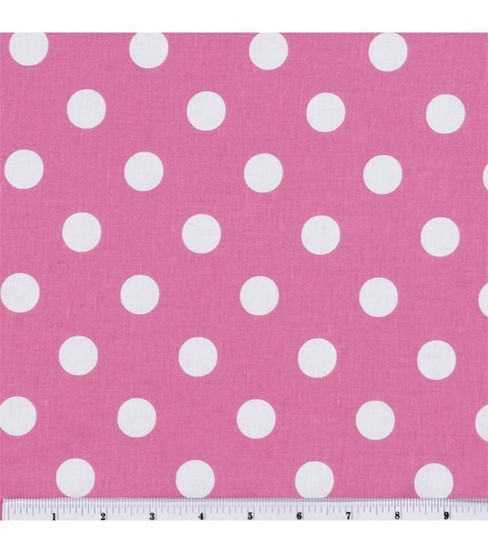 Keepsake Calico Cotton Fabric 44\u0027\u0027-Large Dots on Rose Pink
