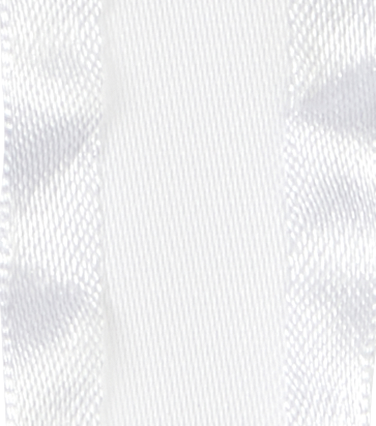 Offray 7/8\u0022x9\u0027 Double Ruffle Satin Solid Ribbon-White
