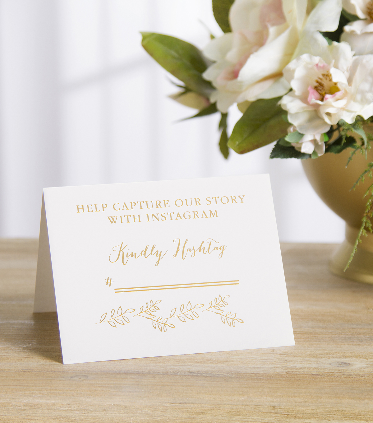 Save The Date Instagram Wedding Sign-Gold Kindly Hashtag