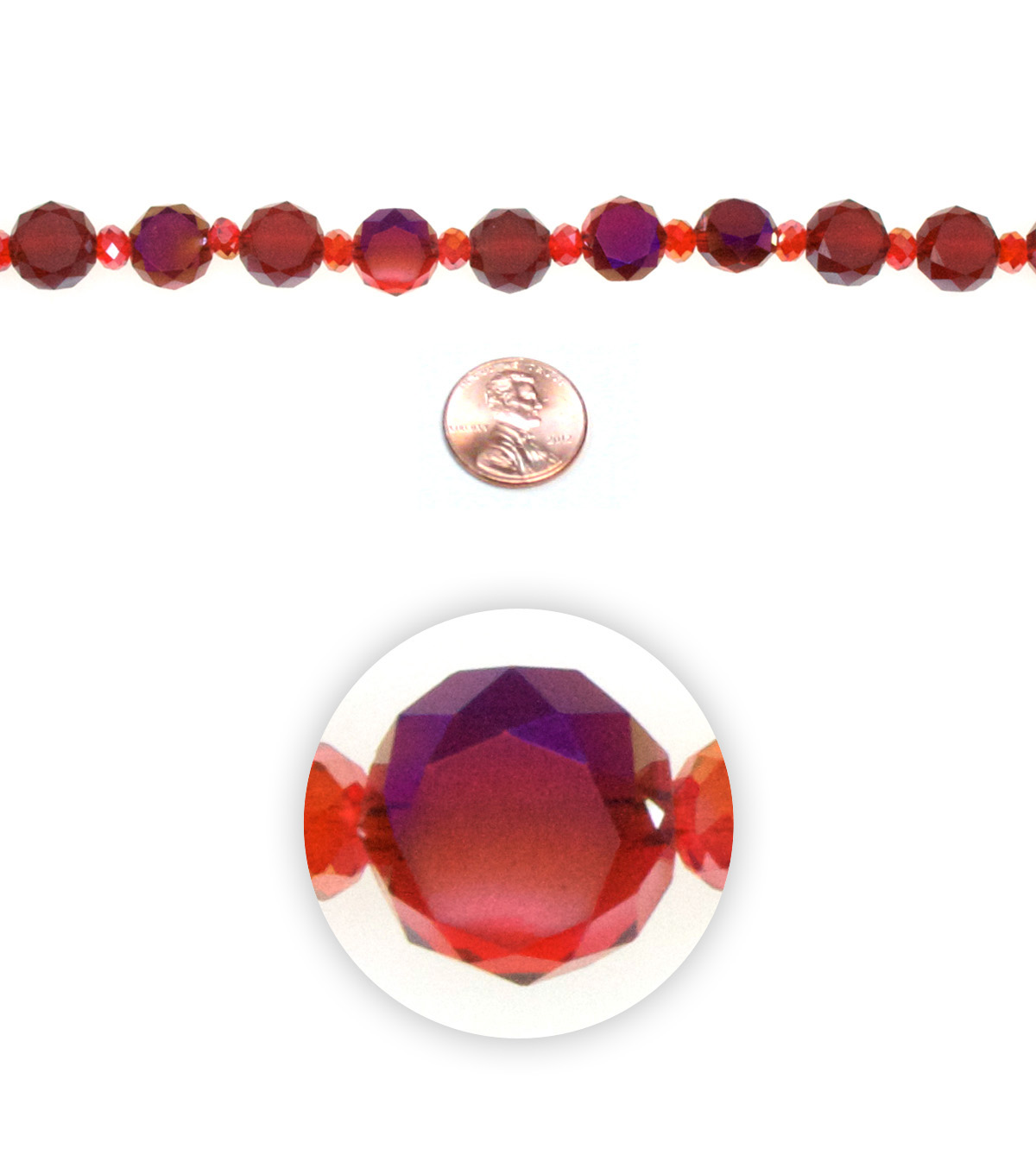 Advantus/Sulyn Terra Crystalline Bead Strand, Fireball