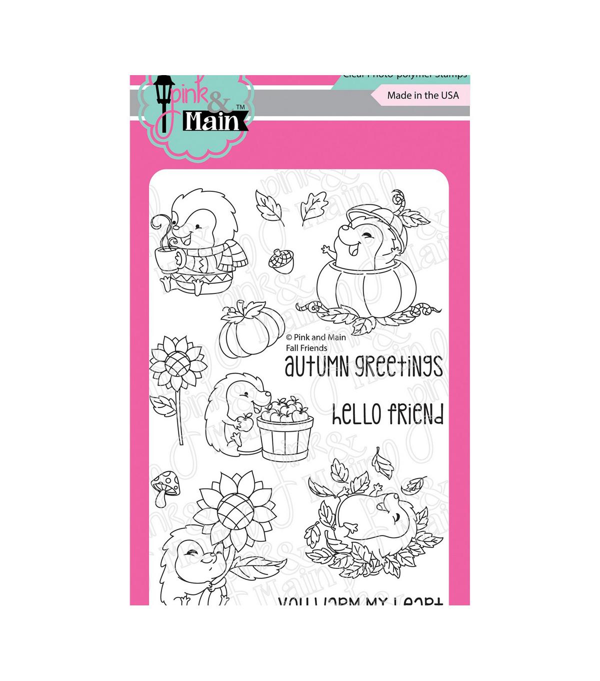 Pink & Main Clear Stamps-Fall Friends