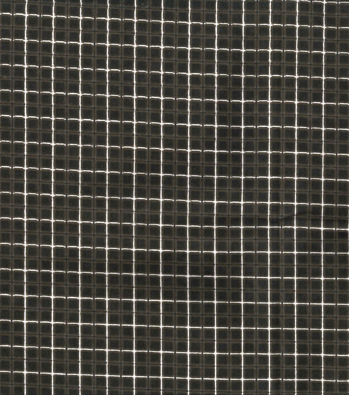 Quilter\u0027s Flannel Fabric -Box Plaid Brown