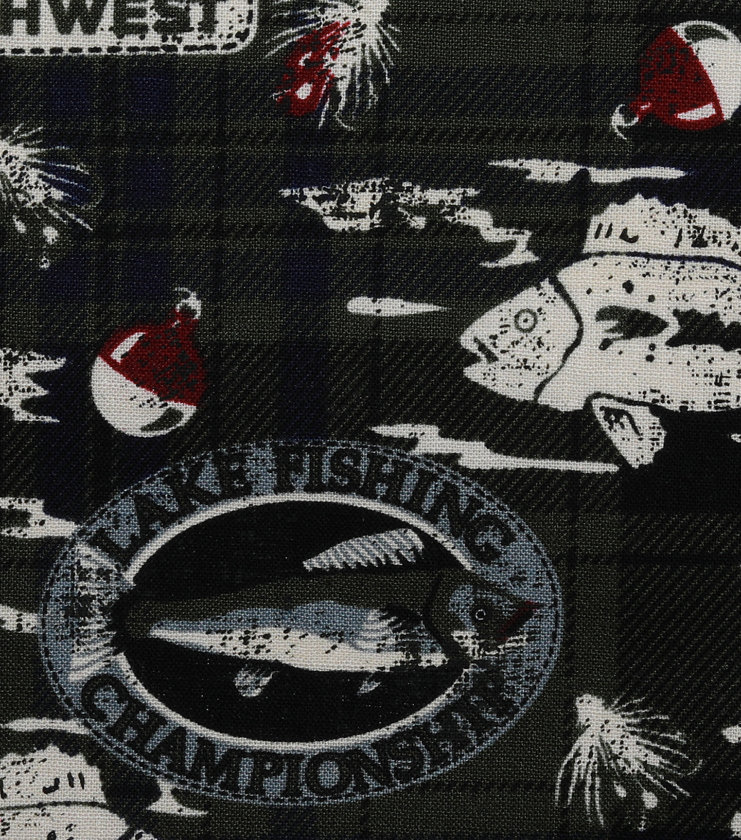 Novelty Cotton Fabric-Fishing & Plaid