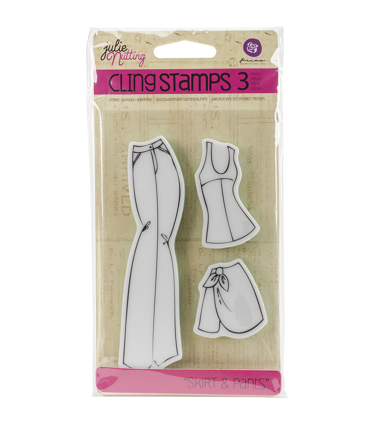 Prima Marketing Julie Nutting Cling Rubber Stamps-Pants Accessories