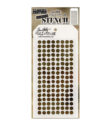Stampers Anonymous Tim Holtz 4.13\u0027\u0027x8.5\u0027\u0027 Layering Stencil-Dotted