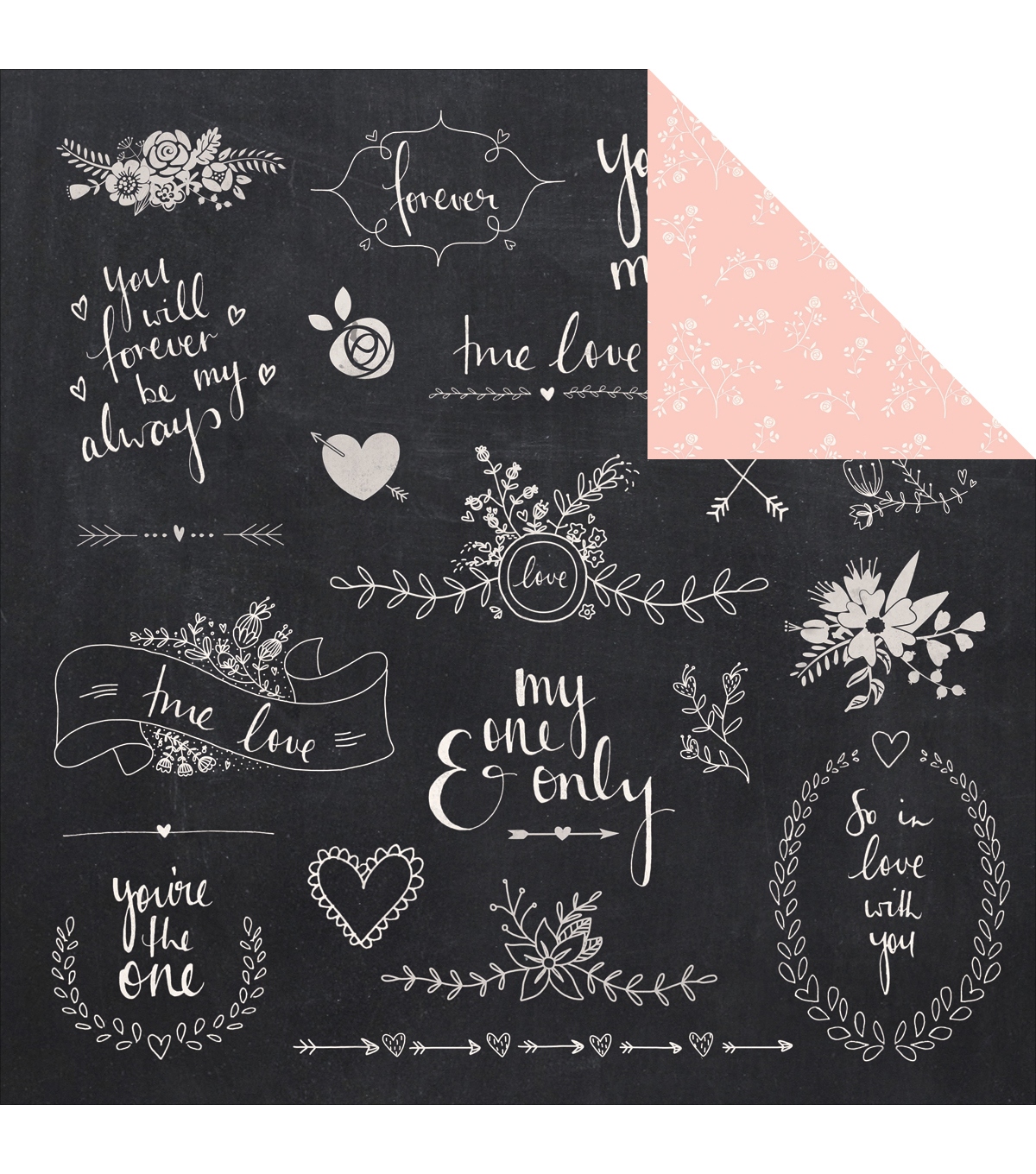 XO Double-Sided Cardstock 12\u0022X12\u0022-Ever After
