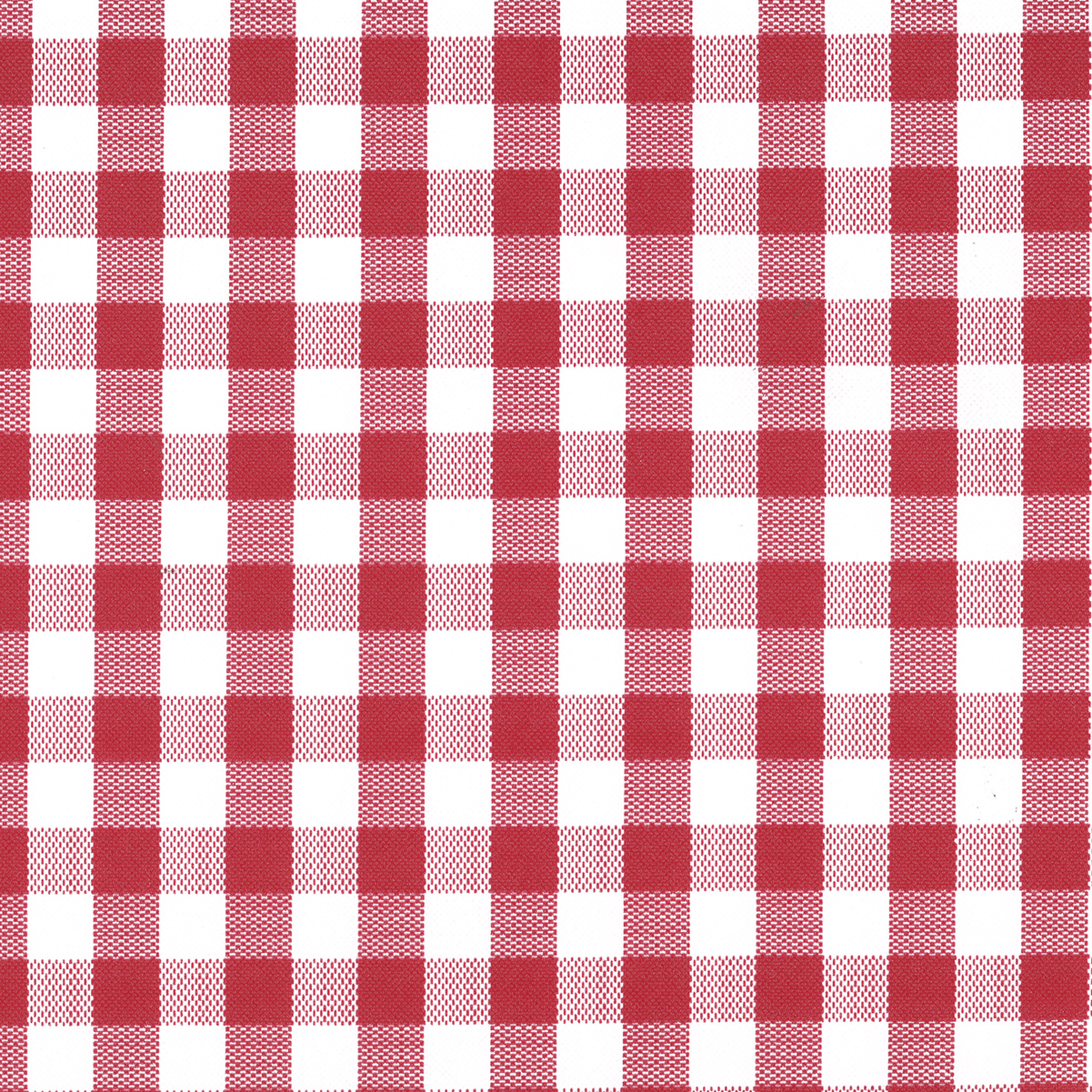 Tablecloth Vinyl 54 Gingham Check Red