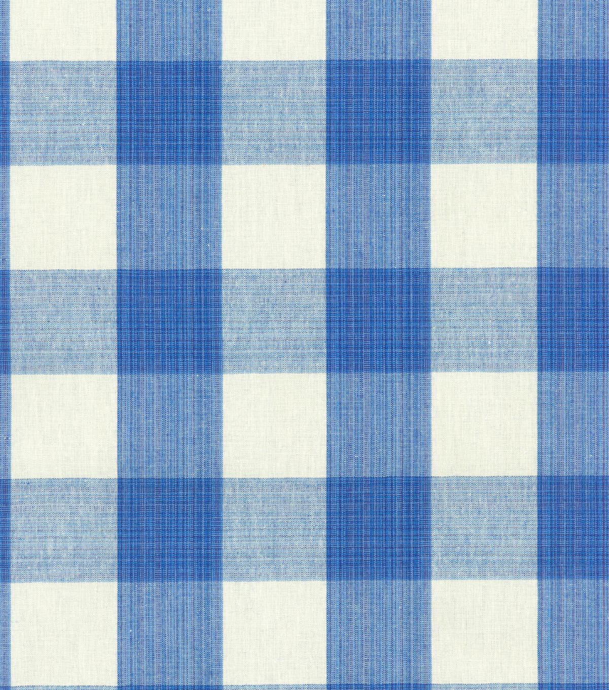 Williamsburg Upholstery Fabric-Stratford Check/Blubell