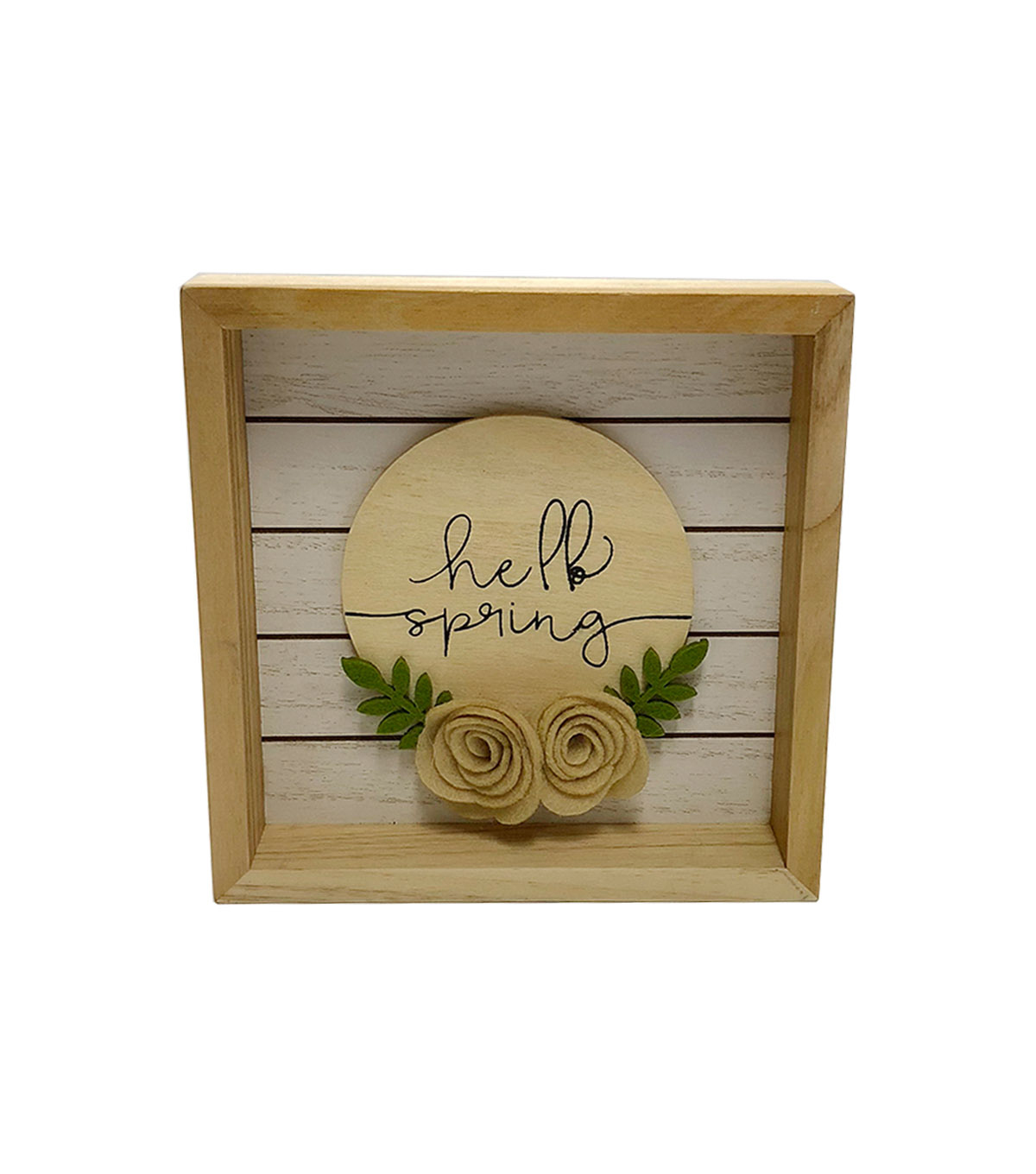 Simply Spring Wall Decor-Hello Spring on Natural
