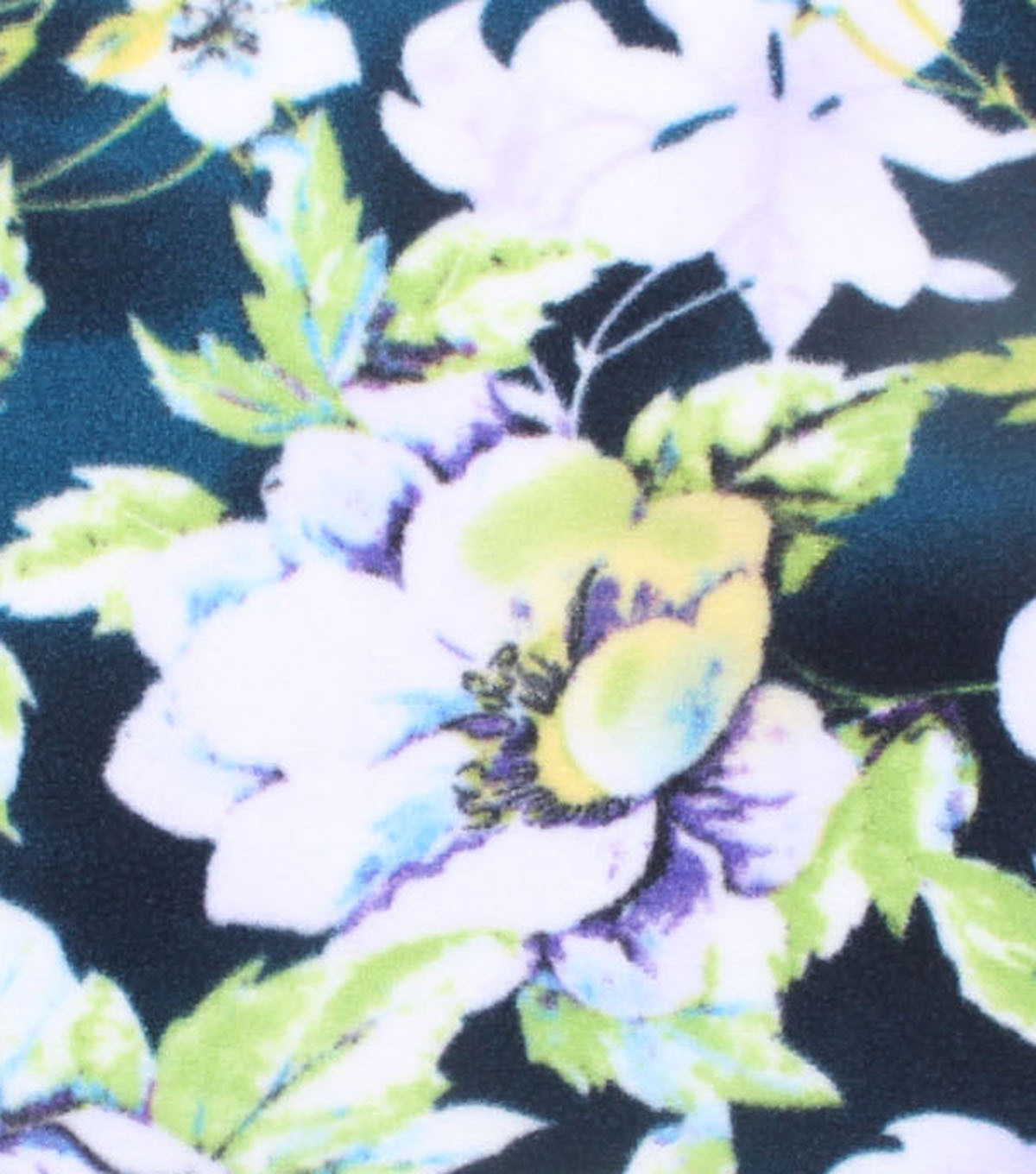 No-Sew Throw Fleece Fabric 72\u0022-Vintage Floral