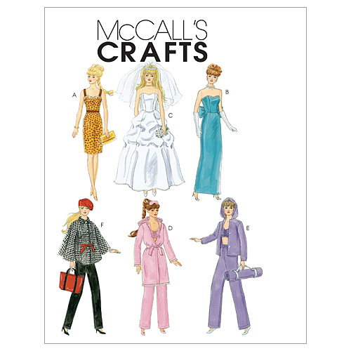McCall\u0027s Crafts Doll Clothes-M6258