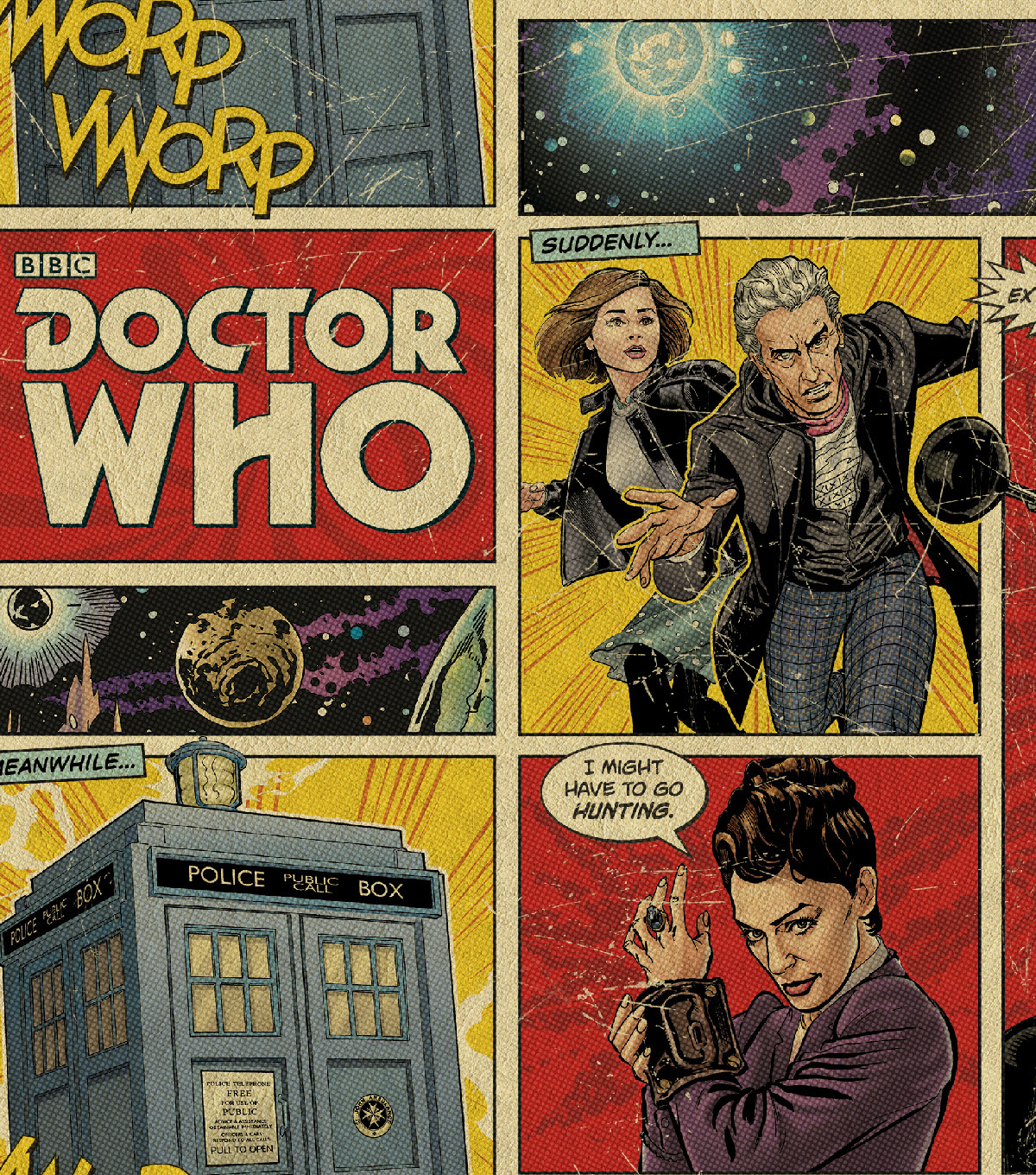 Doctor Who Comic Book Fleece 59\u0022-Comic Book Patch