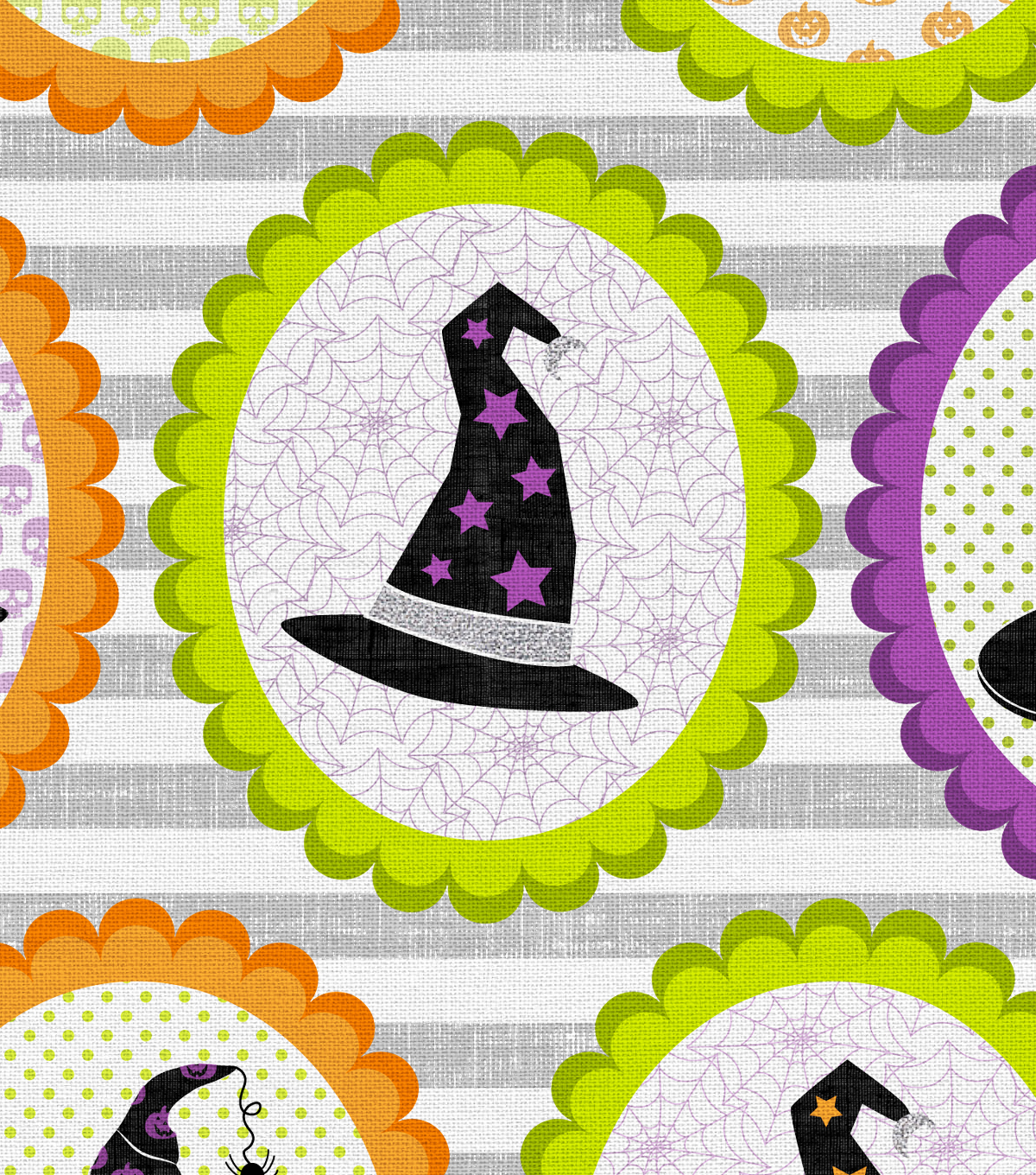 Halloween Cotton Fabric -Boo-Tiful Witch Hats