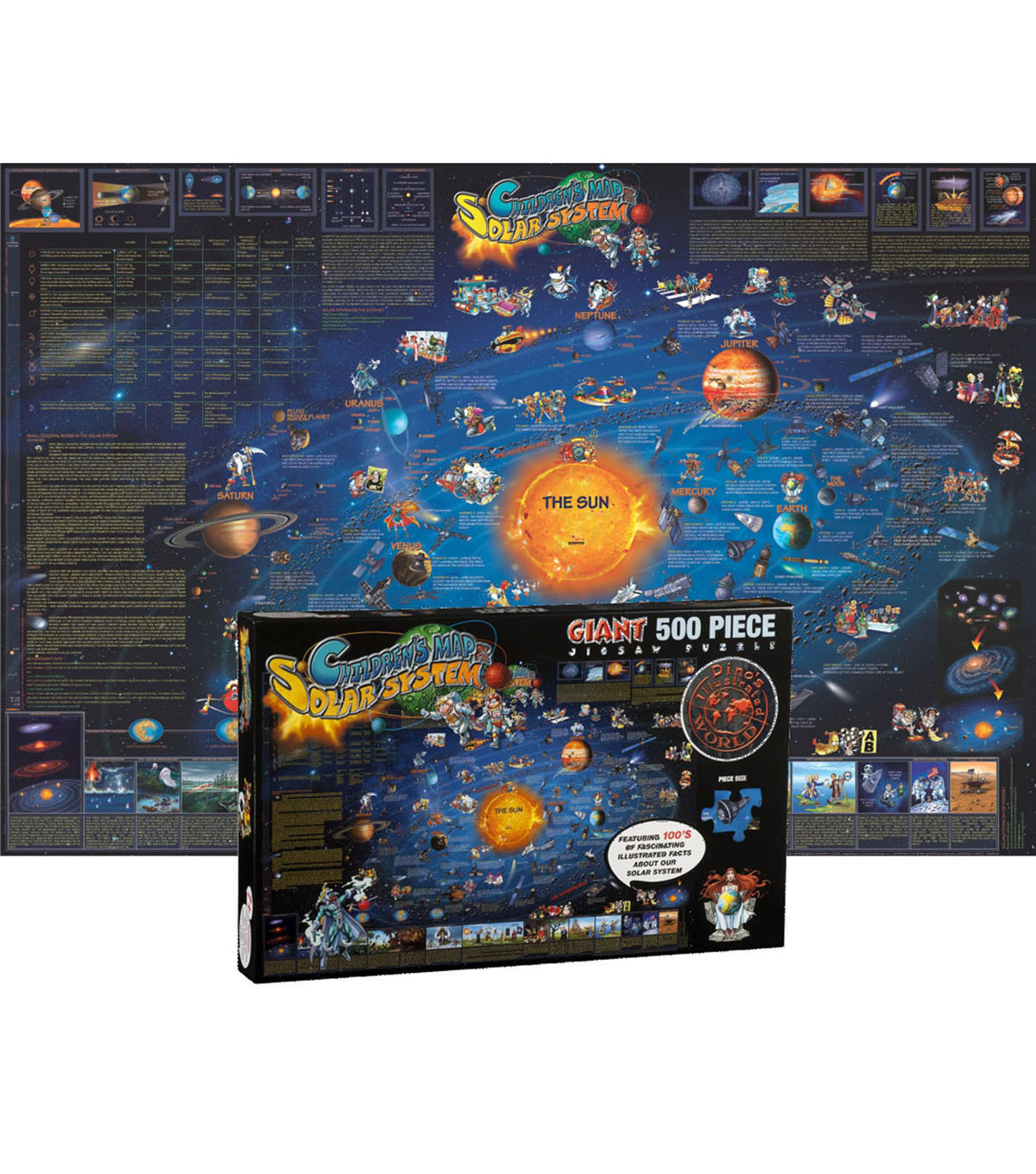 Solar System Map Jigsaw Puzzle, 24\