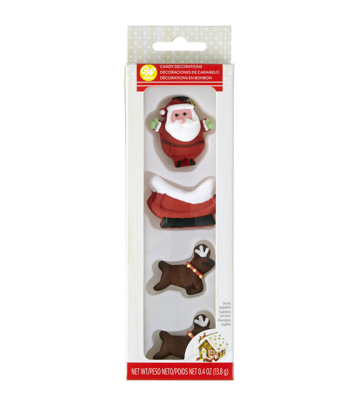 Wilton Gingerbread House Santa & Reindeer Sleigh Candy Decorations