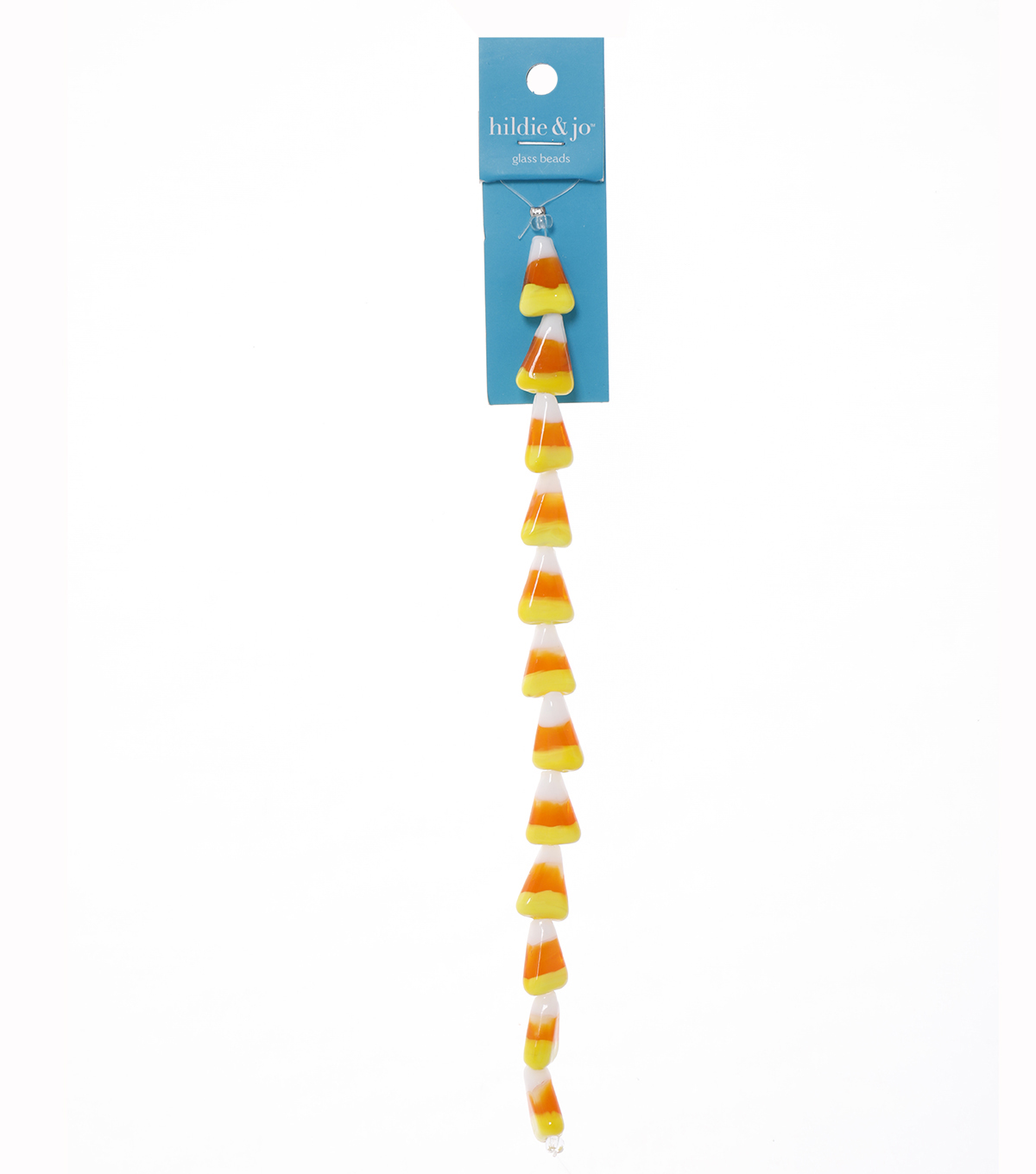Candy Corn Beads, 7-inch Strand