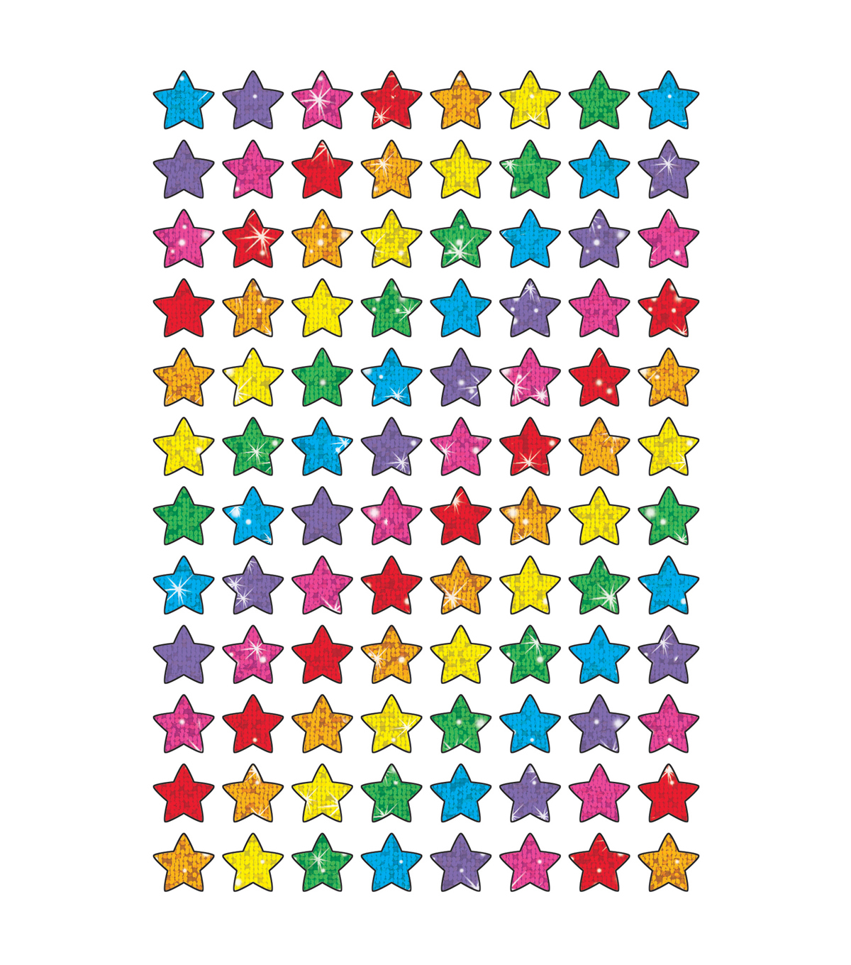 Colorful Stars superShapes Stickers-Sparkle 12 Packs