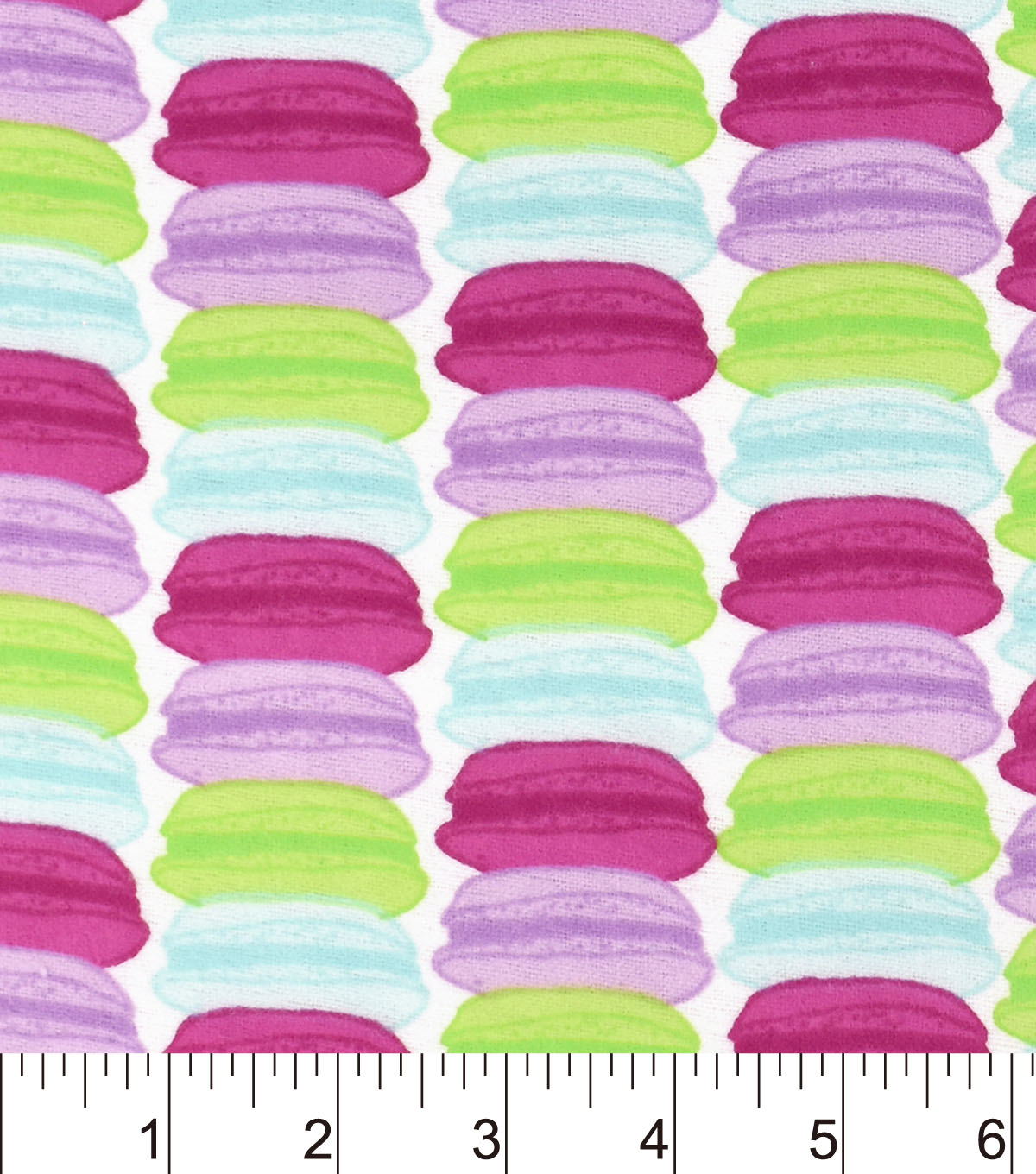 Snuggle Flannel Fabric 42\u0022-Multicolor Macaroons