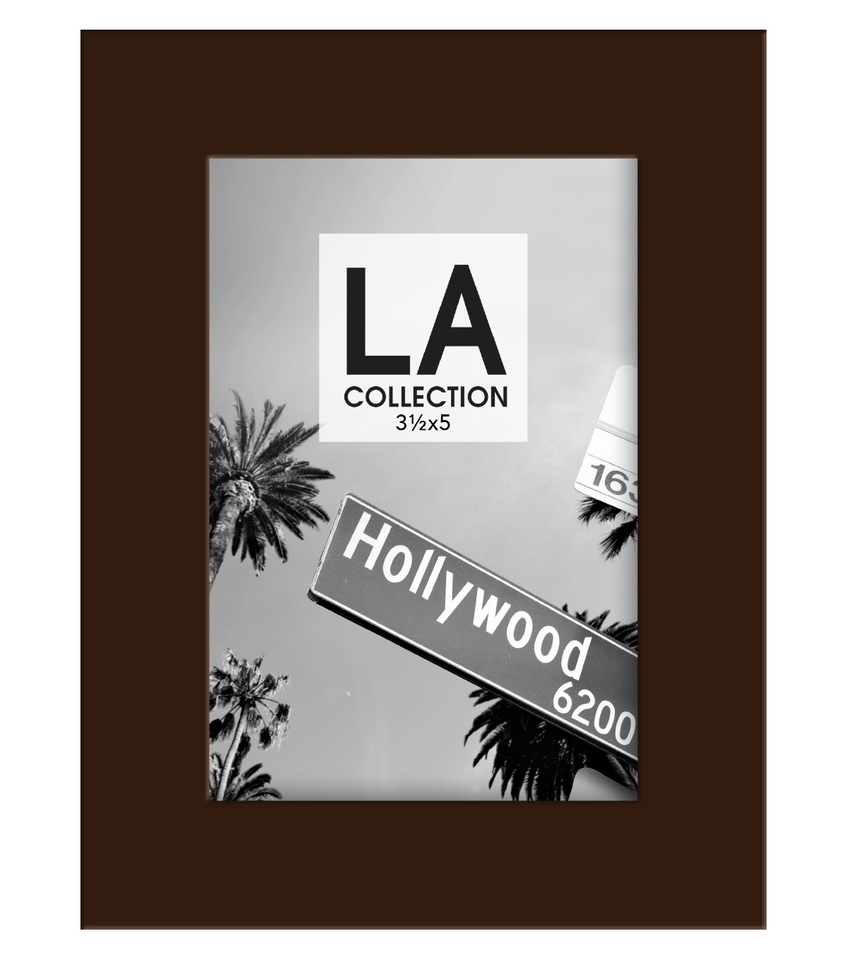 LA Collection Wood Frame 3.5x5-Espresso