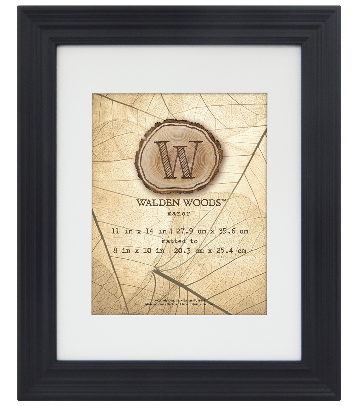 Walden Woods Wall Frame 11X14 To 8X10-Black
