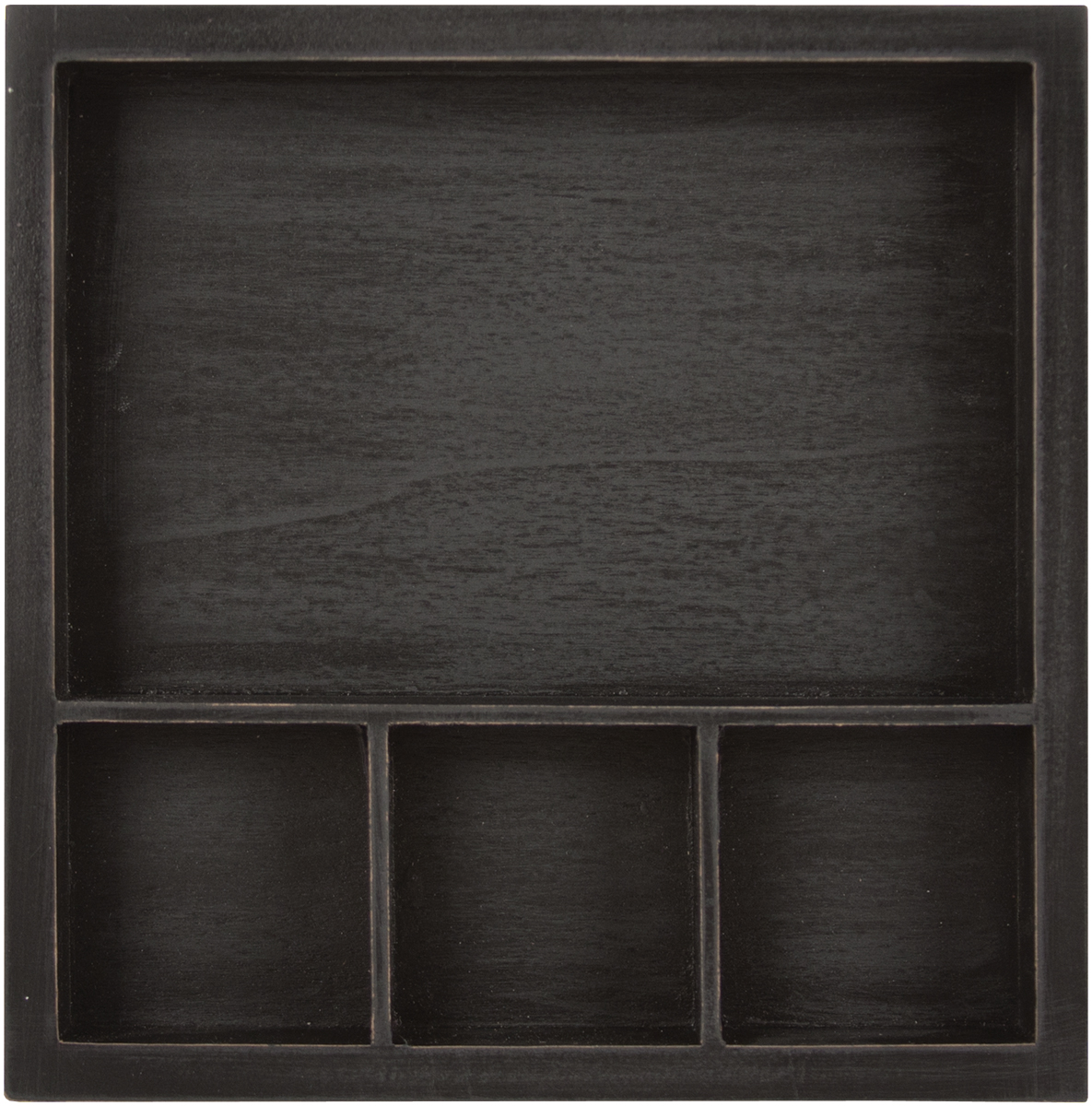 Solo Shadowbox Tray 6\u0022X6\u0022-Black, Holds (1) 6\u0022X4\u0022 & (3) 2\u0022X2\u0022 Photo