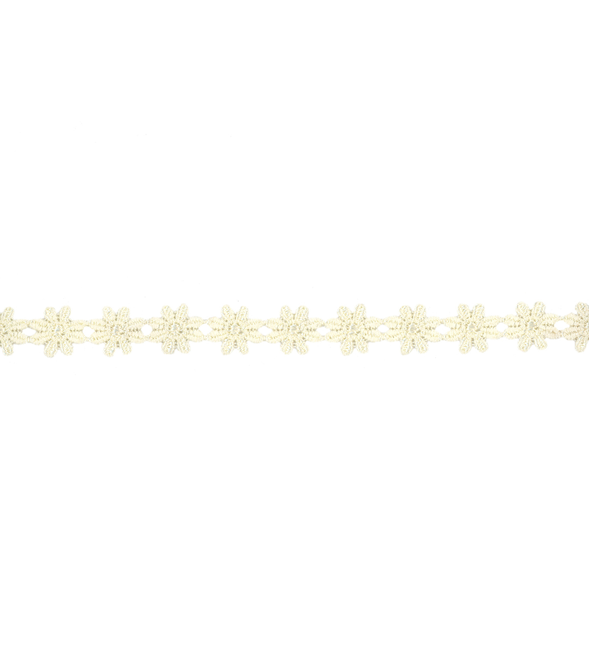 Wrights Trims-1/2\u0022 Ivory Mini Daisy Venice