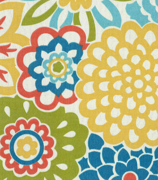 Waverly Sun N\u0027 Shade Outdoor Fabric 54\u0022-Button Blooms Fruit Cocktail