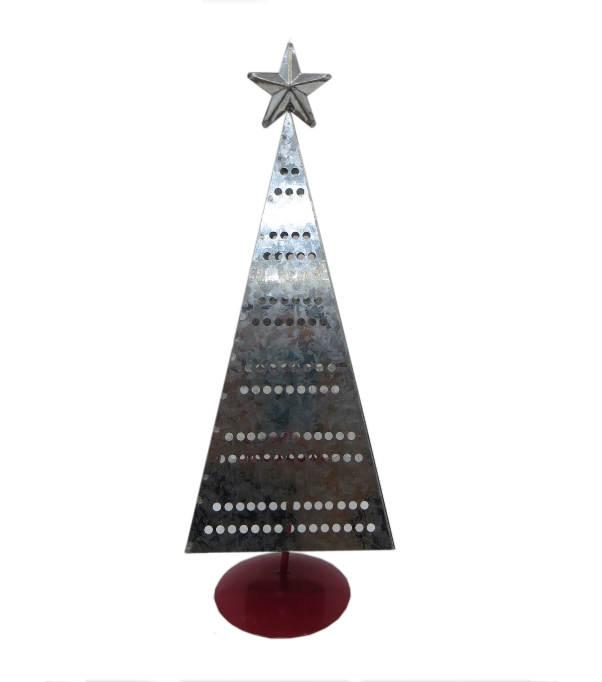 Maker\u0027s Holiday Christmas 13.4 Metal Pierced Tree