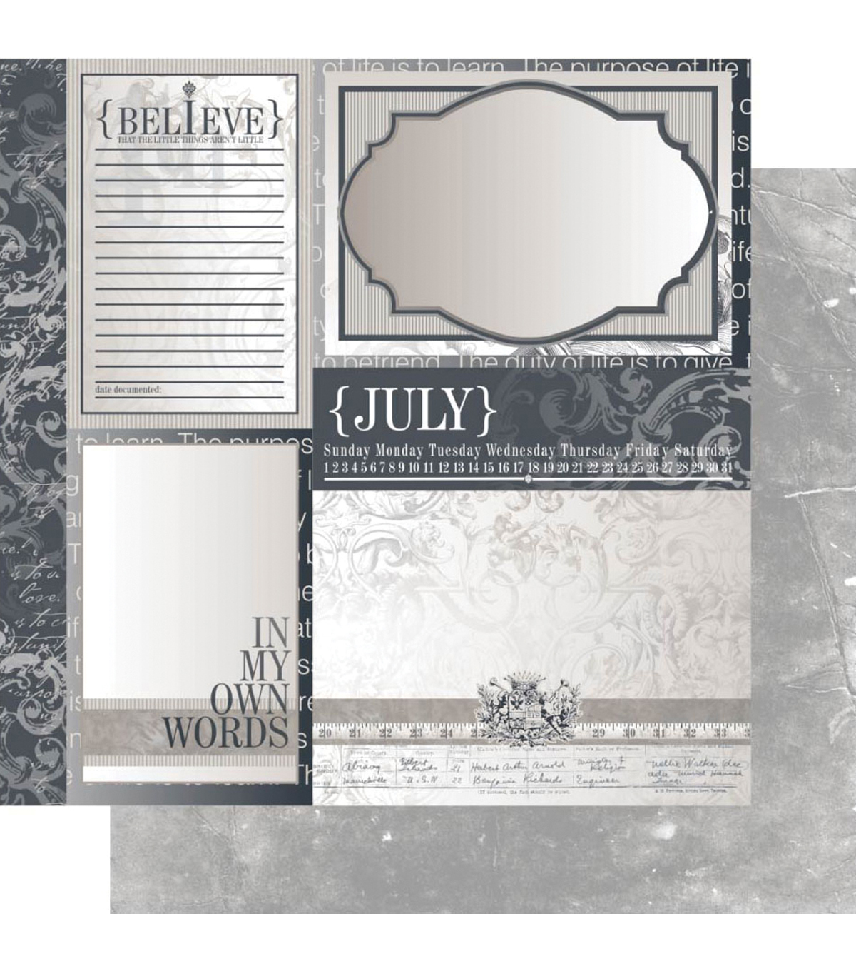 Ruby Rock-It Year In Review July Double-Sided Cardstock