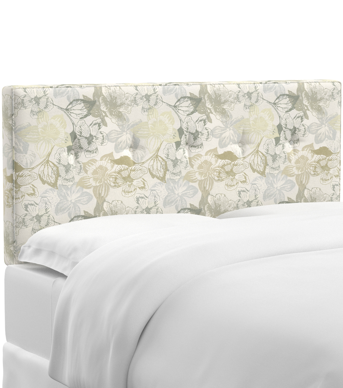 Skyline Furniture Five Button Headboard-King, Peyton Linen