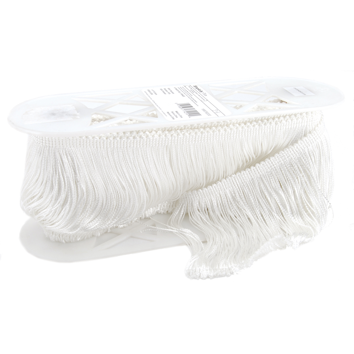 Polyester Fringe 4\u0022 Wide 9 Yards-White
