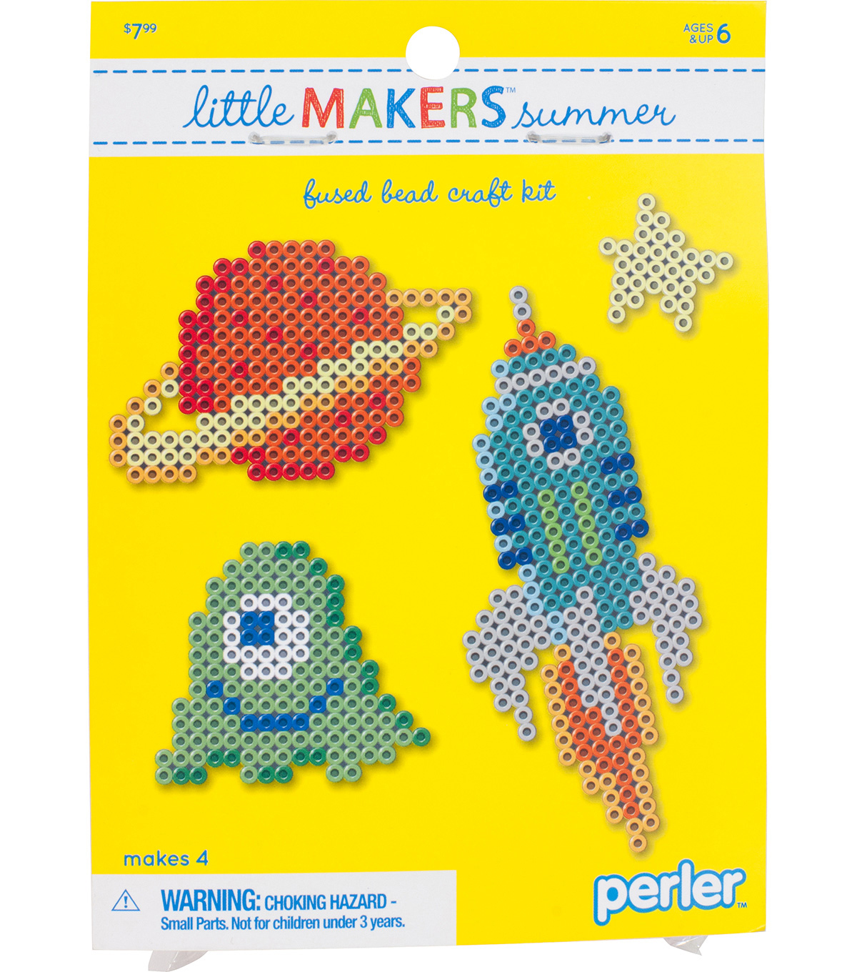 Little Makers Summer Fused Bead Craft Kit-Space
