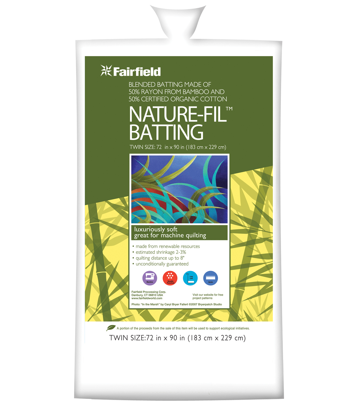 Fairfield Nature-Fil Batting 72\u0022x90\u0022