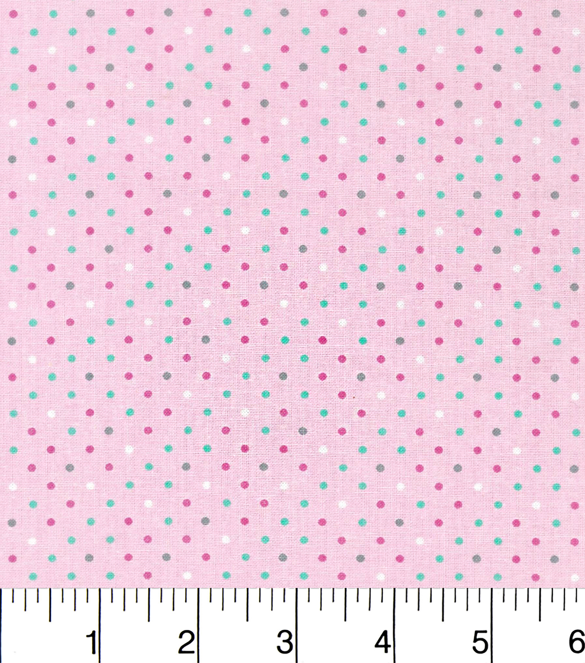 Nursery Cotton Fabric-Sara Collection Pink With Dots